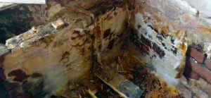 Example of dry rot in Northwich