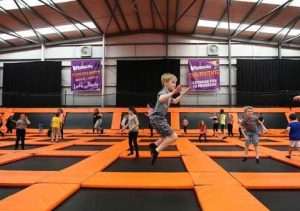 Warrington residents jumping on trampolines at Velocity