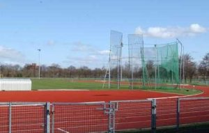 Photo of the running track in Warrington