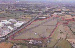aerial photo of Warrington air field