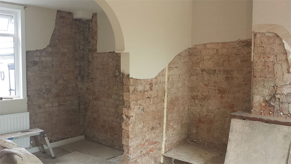 Rising Damp chop off in Runcorn, Cheshire