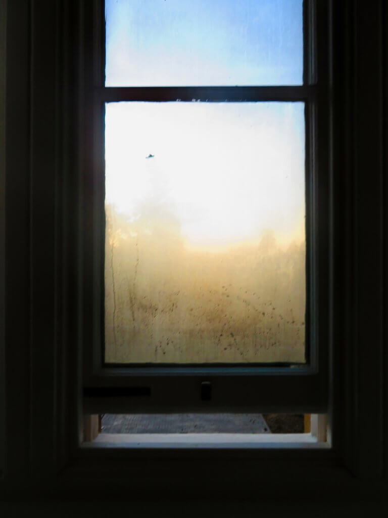 Window with condensation left open